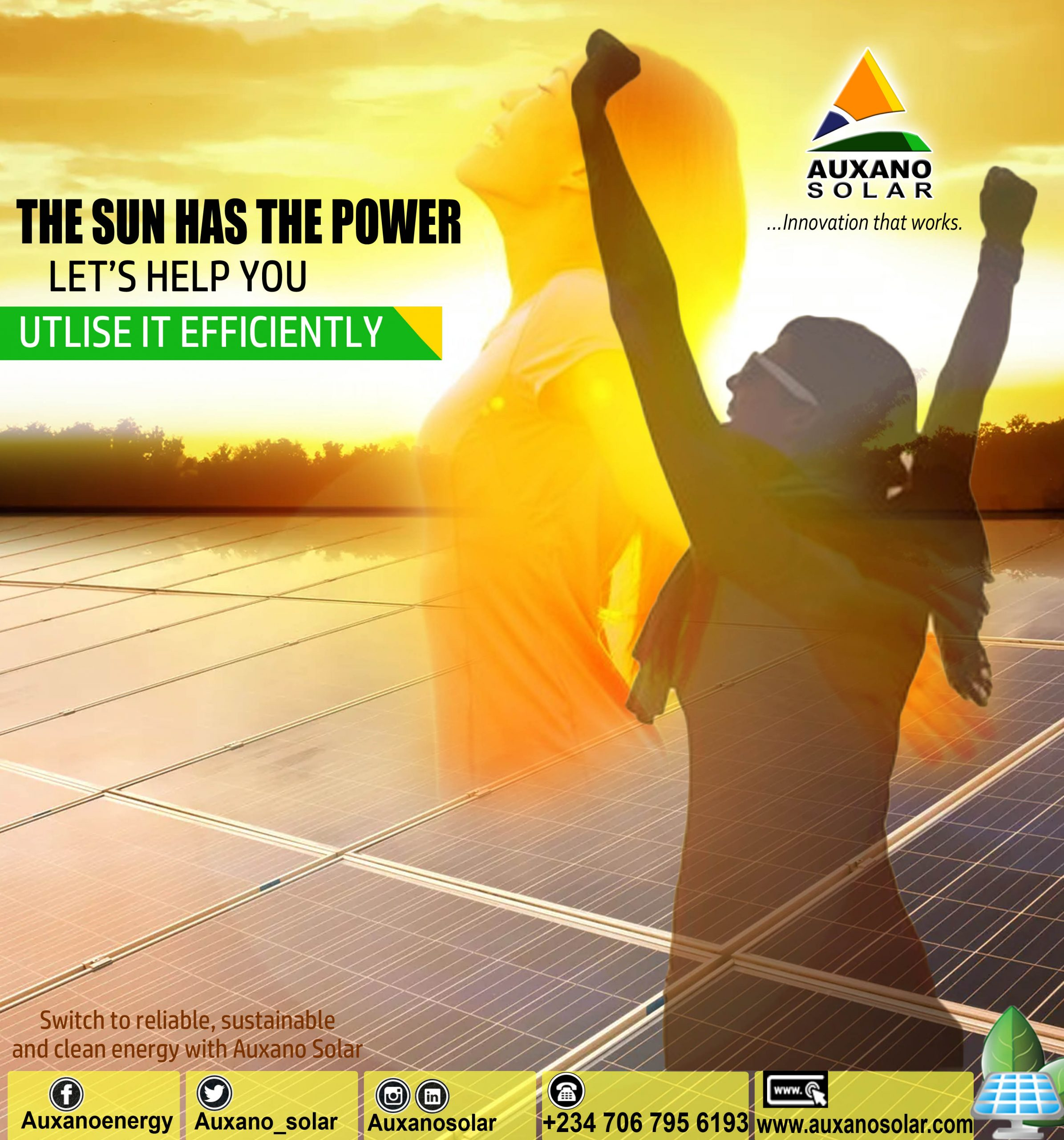 Switch to reliable, sustainable, and clean energy with Auxano Solar